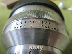 Reflution Des Lens Objectifs, X 36/. 5, Microscopie De Vinture Par Beck, Londres + Notes