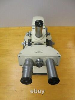 Reichert Autriche Microscope N ° 303245 Avec Xtras Binocular Head, Objectif Lens