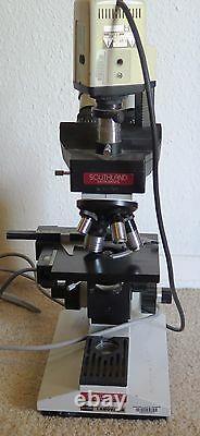 Southland Mcbain Instruments Microscope 4 Objectifs Objectifs Avec Caméra Panasonic