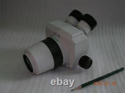 Utilisé Nikon Smz-1 Stereozoom Microscope Tête Avec Oculaire Nikon & Objectif Objectif