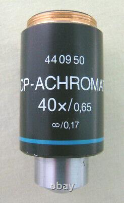 Zeiss 40x Cp-achromat Objectif De L'infini