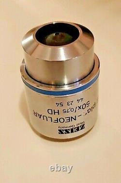 Zeiss Epiplan Neofluar 50x / 0,75 M27 Lentille Objectif Microscope