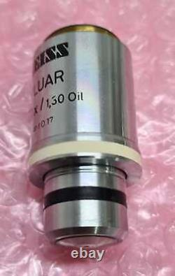Zeiss Fluar 100x/1.30 Huile /0.17 44 02 85 Microscope Objectif Lentille